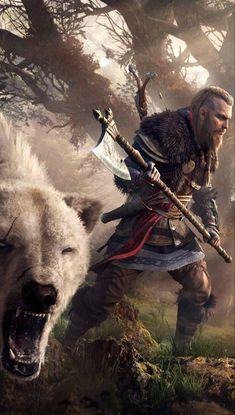 Assassins Creed 2, Assassins Creed Odyssey, Art Basics, Fantasy Pictures, Viking Warrior, God Of War, Dark Fantasy Art, Amazing Art, Ragnar