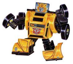 Bumblebee G1 toy box art.