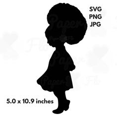 Girl Afro Puffs Svg Silhouette Clip Art Black Girl Afro
