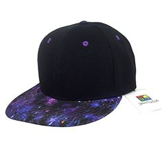 e6d5d8811e4 PrettyLife Unisex Galaxy Brim Snapback Flat Bill Hat Adjustable Hip Hop Trucker  Cap    Click