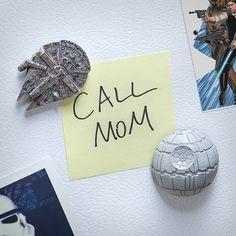Star Wars Millennium Falcon and Death Star Magnet Set