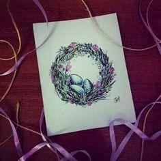 «Пасхальные венки» рисунки   Творческая студия Натальи Мальцевой