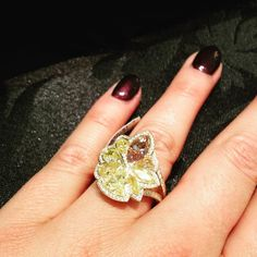 Stunning Hans D Krieger ring at the #CMJ trade event #rings #jewellery #jewelry