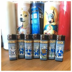 S.P.E.C.I.A.L. Perk Lighters now available in the shop! #fallout #vaulttec #vaultboy