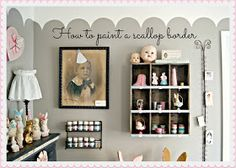 Everyday is a Holiday: How to paint a scallop border - great instructions.