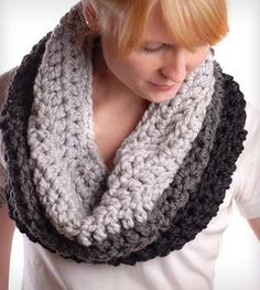 Ombre Chunky Cowl Scarf