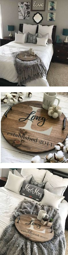 Personalized serving tray, wood serving tray, serving tray, personalized tray, decorative serving tray, personalized wood tray, rustic tray #personalized #tray #lastname #weddinggift #giftideas #homedecor #tray #bedroomideas #coffee #raedunn #homedecor #rustic #farmhouse #servingtray #farmhousestyle #homeownersgift #christmasgift #affiliate Guest Room Decor, Decor, Serving Tray Decor, Rustic Tray, Rustic Furniture, Small Guest Rooms, Bedroom Decor, Diy Home Decor, Serving Tray Wood