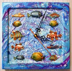 Часы с объемными рыбками http://dcpg.ru/mclasses/clock-fish/