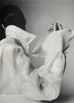 embellished white blouse