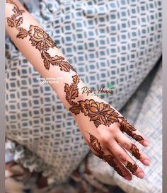 Pretty Henna Designs, Latest Henna Designs, Henna Designs Feet, Floral Henna Designs, Mehndi Designs For Fingers, Beautiful Mehndi Design, Latest Mehndi, Mehendi Arts, Mahendi Design
