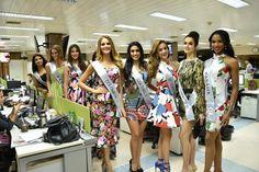 Miss Venezuela Antonella Massaro de Visita en los Medios de Comunicacion en Bolivia.. participando en Reina Hispanoamericana 2016 by Antoni Azocar..