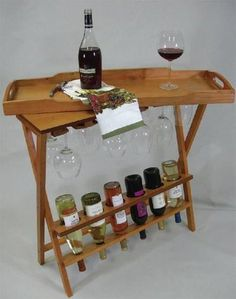 A wine rack to hold your bottles and wine glasses