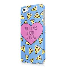 All I Care About Is Pizza Pastel Blue Tumblr Hard Snap-On Protective Case Cover For Iphone 5 / Iphone 5s