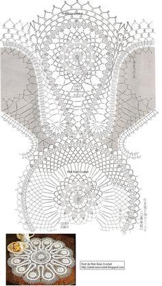 "Photo from album ""Салфетки, схемы"" on Yandex. Crochet Table Topper, Crochet Tablecloth Pattern, Crochet Doily Patterns, Crochet Diagram, Crochet Chart, Filet Crochet, Irish Crochet, Baby Knitting Patterns, Crochet Dollies"