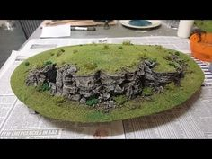 How to make cork bark rock faces for your wargaming scenery - YouTube