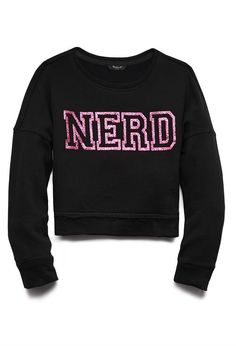 Girls Fancy Nerd Sweatshirt (Kids)