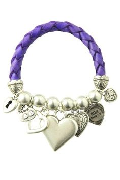 love the bracelet, and the purple is my favorite color !