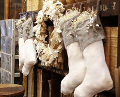 Beautiful Mess Home & Garden Merry Stockings, Christmas Stockings, Seasonal Decor, Holiday Decor, Garden Features, Beautiful Mess, Red Christmas, Favorite Things, Home And Garden