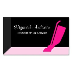 Girly housekeeping and cleaning services business cards for the professional housekeeper, janitor, and maid services. Cleaning Service Names, Cleaning Services, Cleaning Business Cards, Cleaning Logos, Janitorial, Calling Cards, Housekeeping, Clean House, Girly