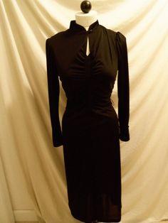 Vintage '70s Black Coffin Dress Vickie Vaughn by daisylacevintage
