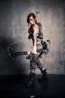 Lara+Croft+(tomb+raider+2013)+Cosplay #cosplay #art #makeup #tips #photo #Fantasias #Geek #Cosplays #TombRaider #RiseoftheTombRaider #LaraCroft #TaraCash #UpshotArchery #Recurve #RecurveBow