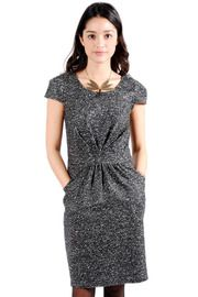 Wool Ruched Dress