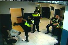 See cop KARATE KICK handcuffed suspect in the head TWICE as fellow police officers stand by and watch
