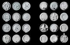 Architects Louise Harpman and Scott Specht own the world's largest collection of disposable plastic coffee cup lids, a seemingly simple product that raises myriad design questions and challenges. Plastic Coffee Cups, American Drinks, Coffee Supplies, Mind Thoughts, Frog Design, Coffee Culture, Coffee Type, Stevia, Magazine Online