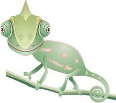 Chameleon | Chameleon vector | Download free Vector