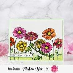 Joy Clair Designs A Ray of Sunshine Release Instagram Hop – rainbow in november Different Flowers, Green Glitter, Digital Stamps, Gel Pens, Watercolor Paper, I Card, Cherry Blossom, Iridescent, Sunshine