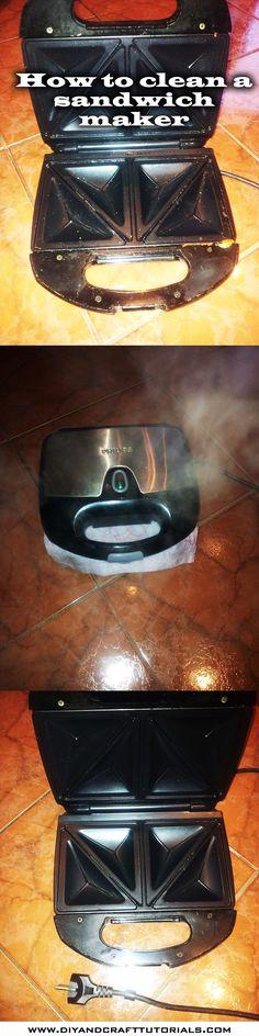Para Limpiar la sawichera. Despues de usarla desenchufar y colocar una doble hoja de papel de cocina húmedo en el interior cerrar y el vapor la limpiara