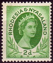 Postage Stamps Rhodesia and Nyasaland 1954 Queen Elizabeth II SG 3 Fine Used SG 3 Scott 143 For Sale Take A LOOK