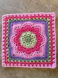 "Ravelry: Spring Fling 12"" Square pattern by April Moreland"