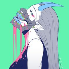ArtStation - Koyori n Anime Art Girl, Manga Art, Aesthetic Art, Aesthetic Anime, Art Sketches, Art Drawings, Pastel Goth Art, Arte Cyberpunk, Japon Illustration