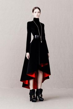 Alexander McQueen Pre-Fall 2013 Collection - - - Goth but high fashion. Love it!