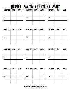 bingo math addition with regrouping