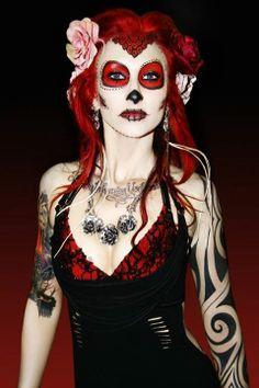 Dia De Los Muertos. Make up: Angel Dies Official Dress by: Morgen Love