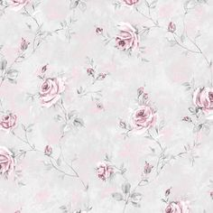 1940s Vintage Wallpaper Small Pink Roses On Blue W