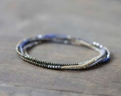 Stretch Bracelet with Multi Colored Spinel by MoonLabJewelry