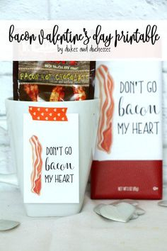 bacon valentine's day printable and gift idea