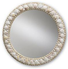 Harbor Shell Mirror.  Simple, and beautiful (and expensive).  $292.00 at Caron's Beach House.