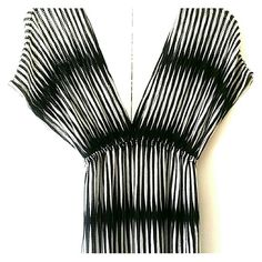 NIKKI POULOS Woven Caftan Cover-up Dress sz XS Worn once like new, black and white mesh woven caftan Cover-up Dress w V-Neck front and back, high wiasted very forgiving elastic band waist, no slits, wear it on vacation to eat, dance or to the beach/pool and look fabulous, classy and stylish! NIKKI by NIKKI POULOUS Dresses Maxi