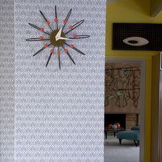 Gio Repositionable Self Adhesive Wallpaper - Silver