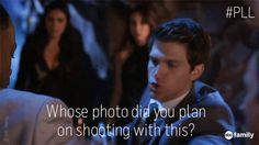 """S6 Ep9 """"Last Dance"""" - Toby... only you could save the day AND be witty while doing so #FakePhotographer #PrettyLittleLiars"""