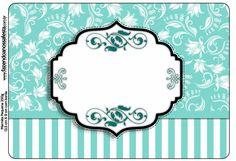 Fiesta Tiffany: Etiquetas para Candy Bar para Imprimir Gratis.