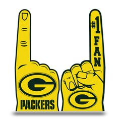 Officially licensed flat foam finger by Rico. Approximately x this foam finger celebrates the Green Bay Packers and includes an inside strap to help hold your hand and foam finger in place! Finger Hands, Go Pack Go, Green Bay Packers, Packers Nfl, Prints, Aaron Rodgers, Fan, Free Shipping, Products