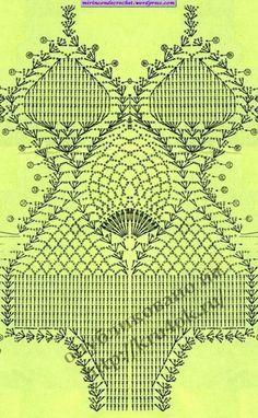 Trajes de baño | Mi Rincon de Crochet Motif Bikini Crochet, Bikinis Crochet, Beach Crochet, Crochet Bra, Crochet Diagram, Crochet Woman, Crochet Chart, Crochet Clothes, Crochet Patterns