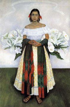 Diego Rivera - 1949 Portrait of Dabi oil