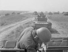 AUG 20 1944 Polish armour holds SS counter-attack at Mont-Ormel Column of Cromwell tanks of the Mounted Rifles Regiment Polish Armoured Division) moving towards enemy positions during the Battle of Falaise Pocket. Normandy Ww2, Normandy Invasion, Normandy Beach, Cromwell Tank, Les Cents, D Day Landings, War Image, Us Army, World War Ii