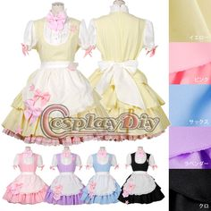 custom made kawaii dress five colors  Maid cosplay  (Freeshipping) http://www.xfoor.com/products/custom-made-kawaii-dress-five-colors-maid-cosplay-freeshipping/